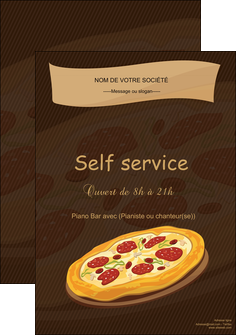 creation graphique en ligne affiche pizzeria et restaurant italien pizza plateau plateau de pizza MLGI19502