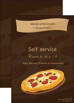 modele en ligne affiche pizzeria et restaurant italien pizza plateau plateau de pizza MLGI19504