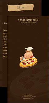 personnaliser modele de flyers pizzeria et restaurant italien pizza plateau plateau de pizza MLGI19506