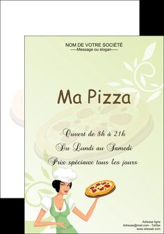 personnaliser maquette affiche pizzeria et restaurant italien pizza plateau plateau de pizza MLGI19762