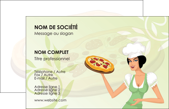 exemple carte pizza à personnaliser