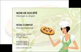 imprimer carte de visite pizzeria et restaurant italien pizza plateau plateau de pizza MLGI19766