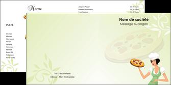 realiser depliant 2 volets  4 pages  pizzeria et restaurant italien pizza plateau plateau de pizza MLGI19772