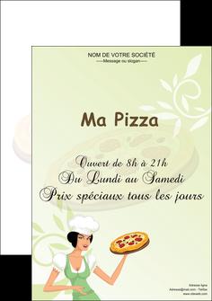 modele affiche pizzeria et restaurant italien pizza plateau plateau de pizza MLGI19780