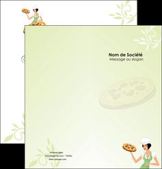 faire depliant 2 volets  4 pages  pizzeria et restaurant italien pizza plateau plateau de pizza MLGI19784