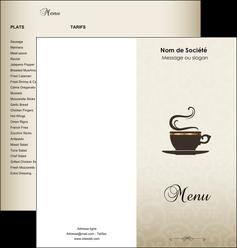 modele en ligne depliant 2 volets  4 pages  bar et cafe et pub salon de the buvette brasserie MLGI19786