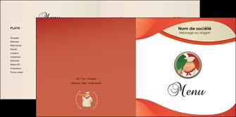 imprimerie depliant 2 volets  4 pages  pizzeria et restaurant italien pizza plateau plateau de pizza MLGI19866