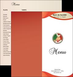 modele en ligne depliant 2 volets  4 pages  pizzeria et restaurant italien pizza plateau plateau de pizza MLGI19876