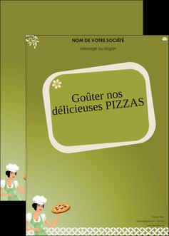 modele affiche pizzeria et restaurant italien pizza plateau plateau de pizza MLGI20262