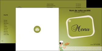 modele en ligne depliant 2 volets  4 pages  pizzeria et restaurant italien pizza plateau plateau de pizza MLGI20274
