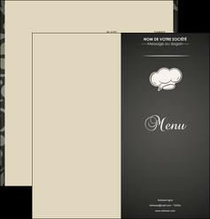 cree depliant 2 volets  4 pages  restaurant restaurant restauration restaurateur MLGI20312