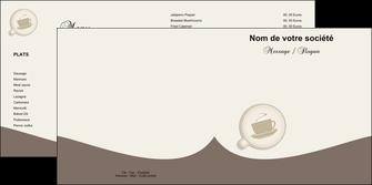 imprimerie depliant 2 volets  4 pages  bar et cafe et pub cafe salon de the cafe chaud MLGI20334