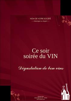 personnaliser modele de affiche vin commerce et producteur vin bouteille de vin verres de vin MLIG20354