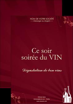 creation graphique en ligne affiche vin commerce et producteur vin bouteille de vin verres de vin MLIG20356