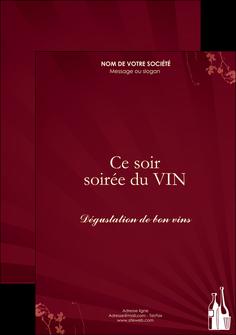 cree flyers vin commerce et producteur vin bouteille de vin verres de vin MLIG20362