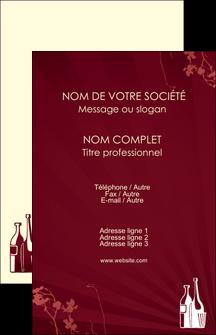 cree carte de visite vin commerce et producteur vin bouteille de vin verres de vin MLIG20366