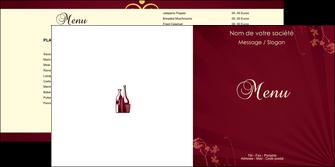 maquette en ligne a personnaliser depliant 2 volets  4 pages  vin commerce et producteur vin bouteille de vin verres de vin MLIG20370