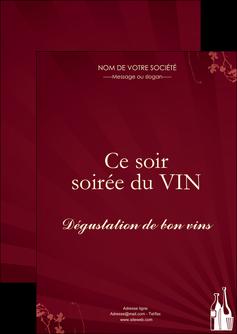 maquette en ligne a personnaliser flyers vin commerce et producteur vin bouteille de vin verres de vin MLIG20374