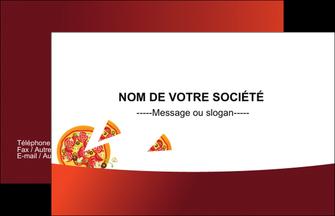 Modele Carte De Visite Pizzeria Restaurant Italien A Personnaliser