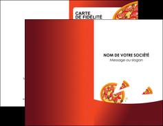 realiser carte de visite pizzeria et restaurant italien pizza pizzeria service pizza MLGI20390