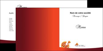 imprimer depliant 2 volets  4 pages  pizzeria et restaurant italien pizza pizzeria service pizza MLGI20392