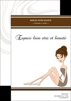 creer modele en ligne flyers institut de beaute beaute esthetique institut de bien etre MLGI20686