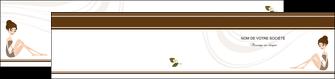 personnaliser modele de depliant 2 volets  4 pages  institut de beaute beaute esthetique institut de bien etre MLGI20688