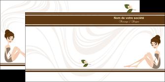modele en ligne depliant 2 volets  4 pages  institut de beaute beaute esthetique institut de bien etre MLGI20696