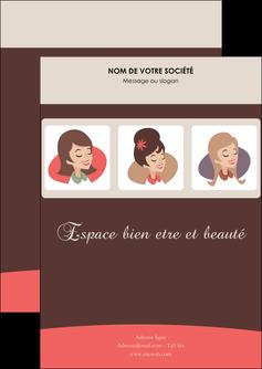 imprimerie flyers institut de beaute beaute femme beaute feminine MLGI20824