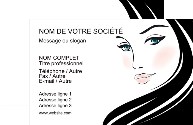 Complet Carte De Visite Modele Et Exemple Beaute Salon MP55