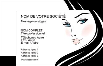 Carte De Visite Modele Et Exemple Beaute Salon Institut