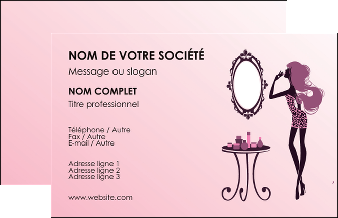 Exemple Carte De Visite Cosmetique Beaute Salon Institut MLGI21000
