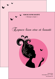 maquette en ligne a personnaliser flyers cosmetique coiffure coiffeur coiffeuse MLGI21148
