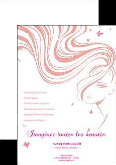 faire flyers institut de beaute coiffure coiffeur coiffeuse MLIG21238