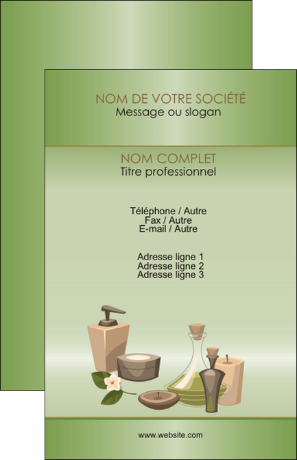 Modele Carte De Visite Institut Beaute Soins Bien Etre MLGI21288