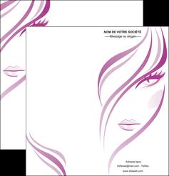 imprimerie depliant 2 volets  4 pages  institut de beaute coiffure coiffeuse salon de coiffure MLGI21314