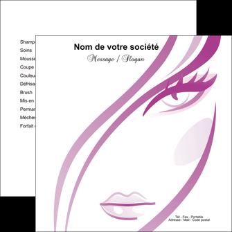 cree flyers institut de beaute coiffure coiffeuse salon de coiffure MLGI21326