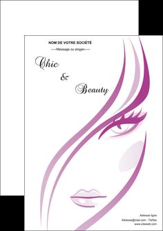 faire flyers institut de beaute coiffure coiffeuse salon de coiffure MLGI21328
