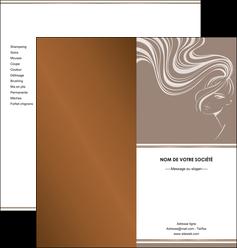 modele depliant 2 volets  4 pages  institut de beaute beaute coiffure soin MLGI21434