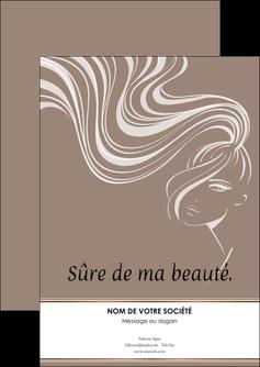 imprimer flyers institut de beaute beaute coiffure soin MLGI21446