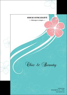 personnaliser maquette flyers institut de beaute coiffure coiffeuse salon de coiffure MLGI21668