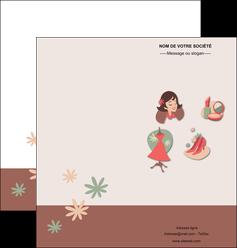cree depliant 2 volets  4 pages  cosmetique beaute soins salon de beaute MLGI21852