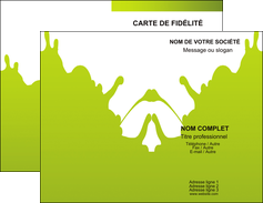 Commander Carte de fidélité Peinture Carte commerciale de fidélité modèle graphique pour devis d'imprimeur Carte de visite Double - Portrait