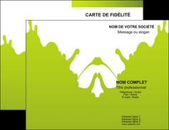 Impression Cartes de visite Peinture Carte commerciale de fidélité imprimer-carte-de-visite-impression Carte de visite Double - Portrait