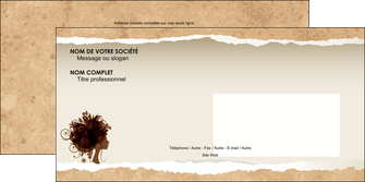 personnaliser maquette enveloppe institut de beaute beaute coiffure soin MLGI21950