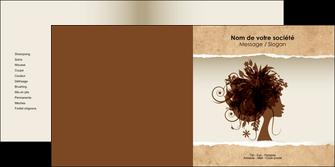 impression depliant 2 volets  4 pages  institut de beaute beaute coiffure soin MLGI21964