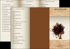 imprimerie depliant 3 volets  6 pages  institut de beaute beaute coiffure soin MLGI21968