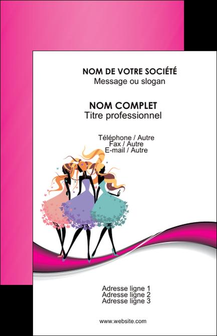 Realiser Carte De Visite Institut Beaute Robe Salon Mode Boutique MLGI22030