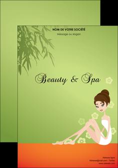 exemple flyers centre esthetique  beaute soins centre de beaute MLGI22054