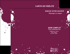 faire carte de visite design abstrait artistique MIF22184